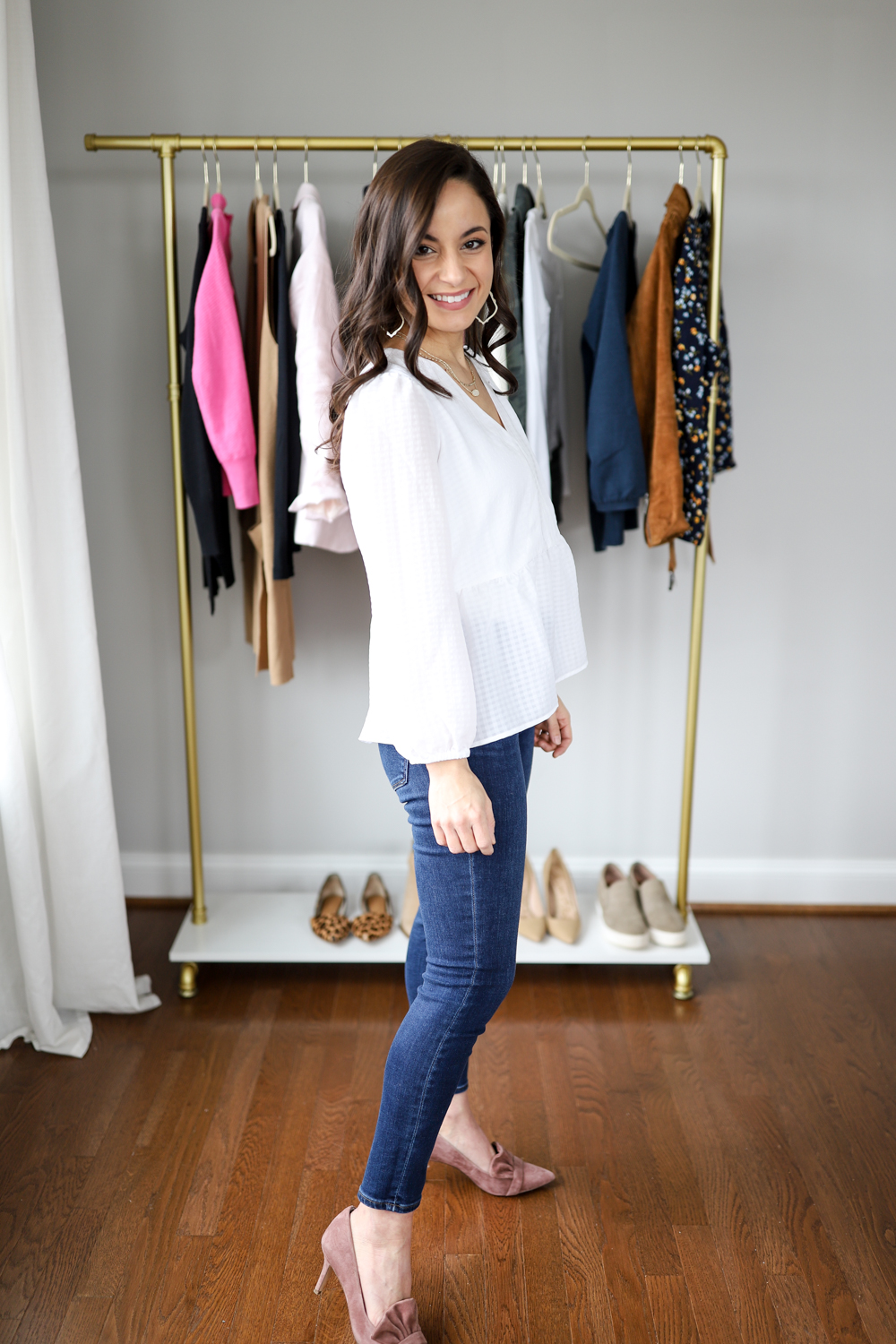 White peplum top outfit via pumps and push-ups blog | petite style blogger | five casual date night outfits